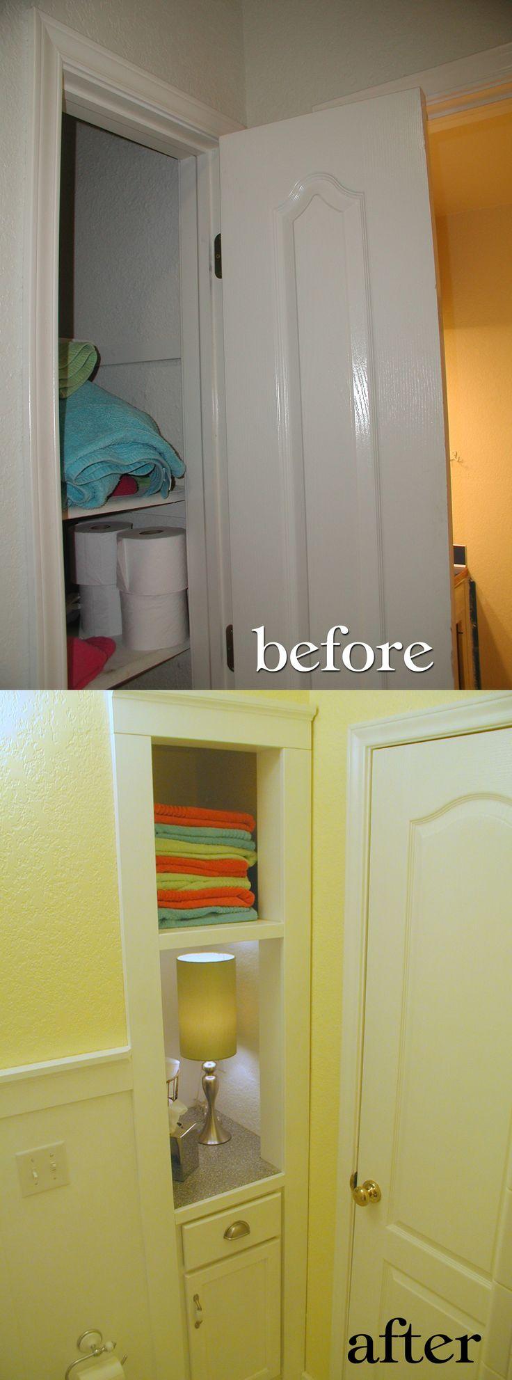 best 20 small linen closets ideas on pinterest bathroom closet narrow closet becomes open shelving small linen