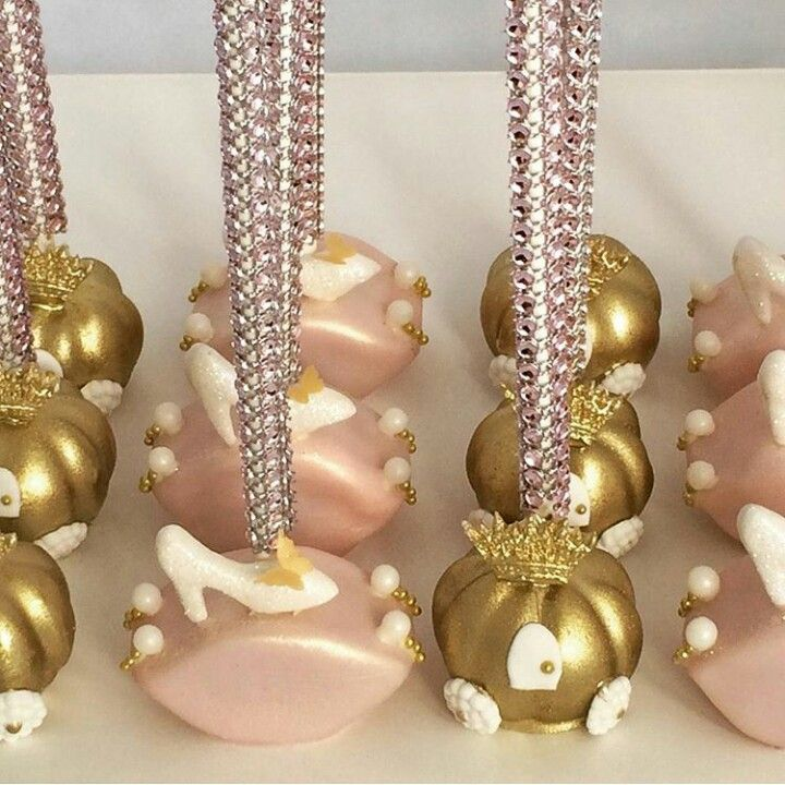 Cinderella inspired cake pops