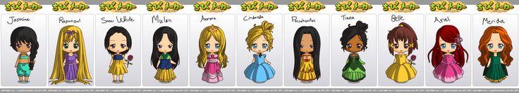 Chibi Maker Disney Princesses by lotionthenightshade.deviantart.com on @DeviantArt