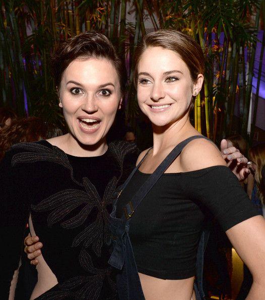 Veronica Roth and Shailene Woodley