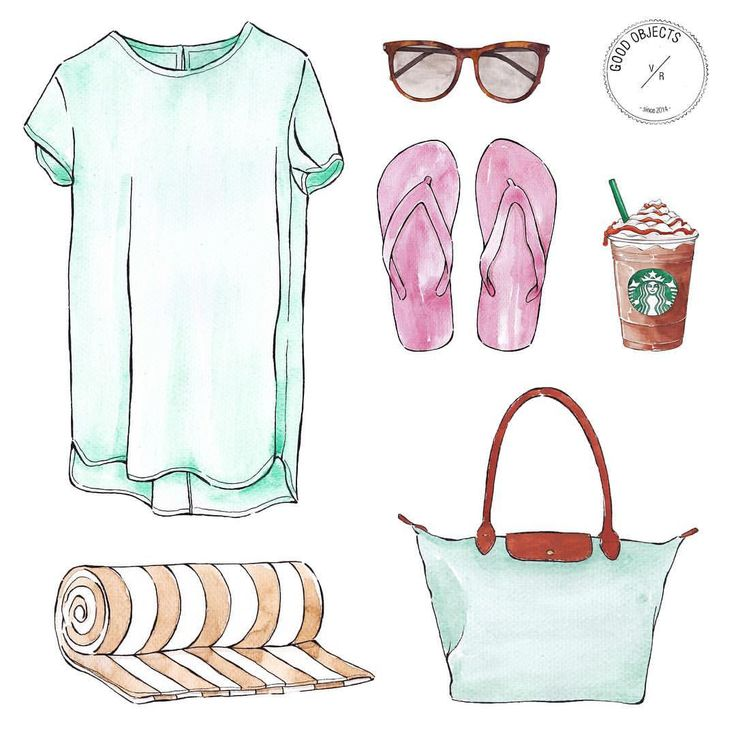 Good objects - Already planning the weekend… ☀️ #goodobjects #watercolor #illustration