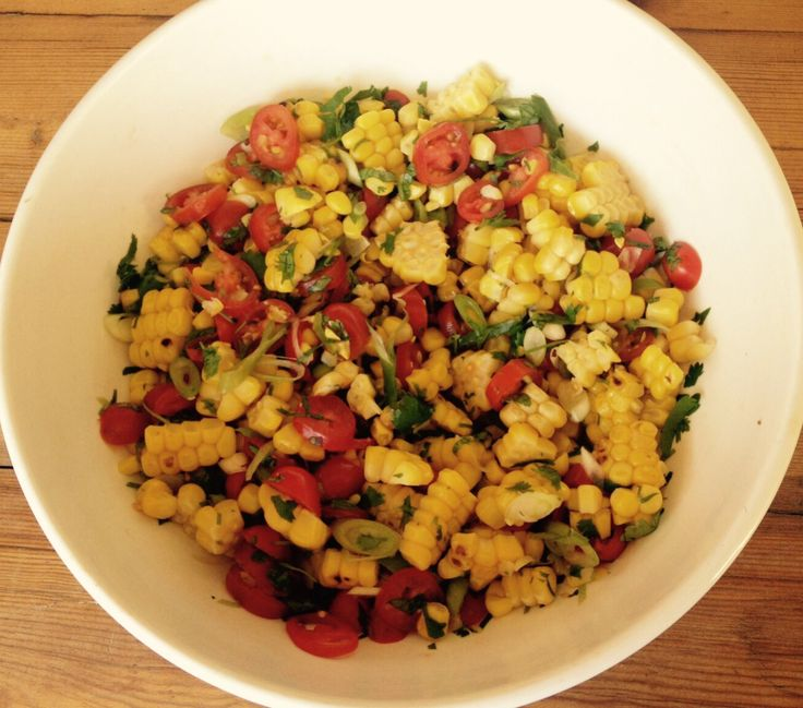 Fresh and vibrant corn salad