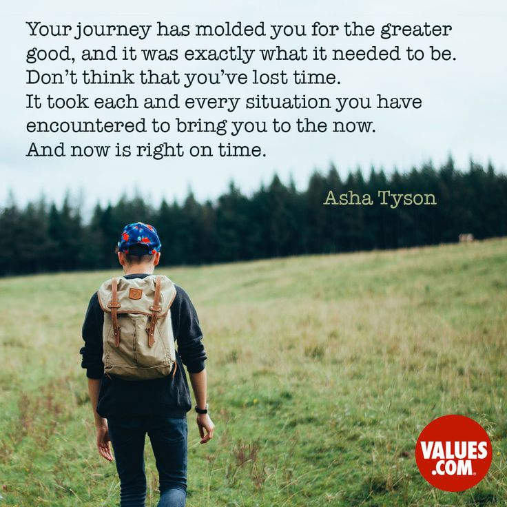 Your journey is molding you for the greater good. #passiton #quoteoftheday www.values.com