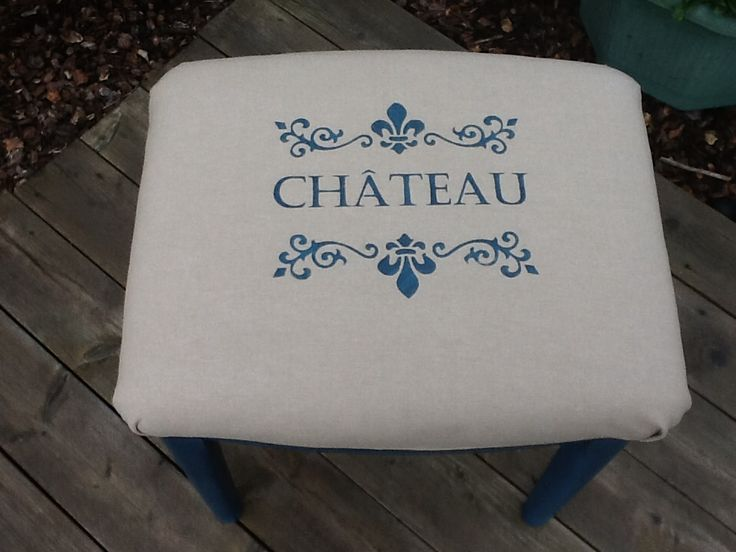 Beautiful up cycled stool in Annie Sloan Paint and waxed for protection.