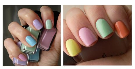 Esta primavera las uñas pintadas en diferentes colores pastel son tendencia!