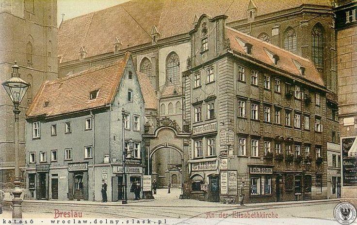 """Kamieniczki """"Jaś i Małgosia"""", Wrocław - 1900 rok, stare zdjęcia"""