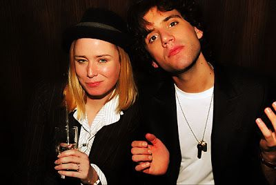 Mika and Roisin Murphy at Jodie Harsh's birthday party in London Mar 2008