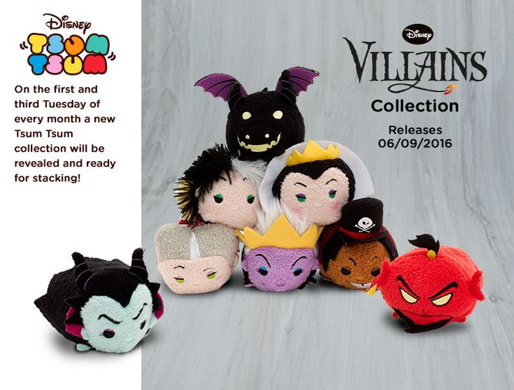 Villans tsum tsum set. to be release on September 6, 2016. Click to order your set.