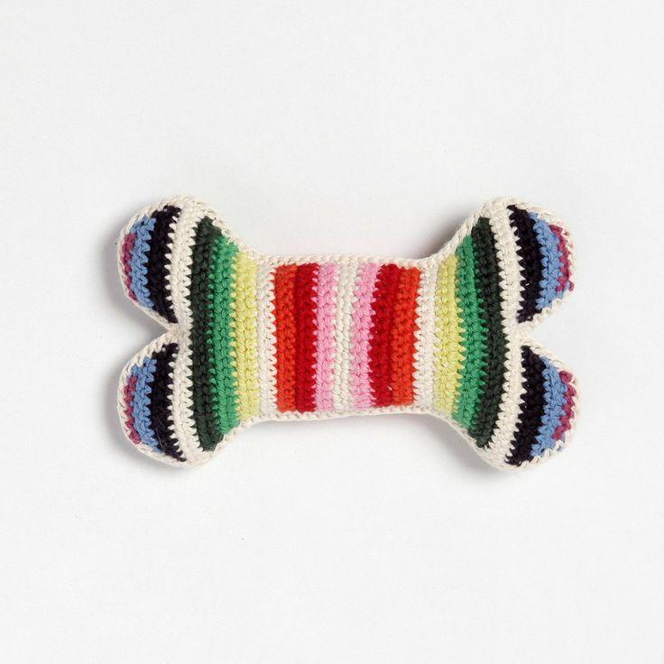 Crochet dog bone