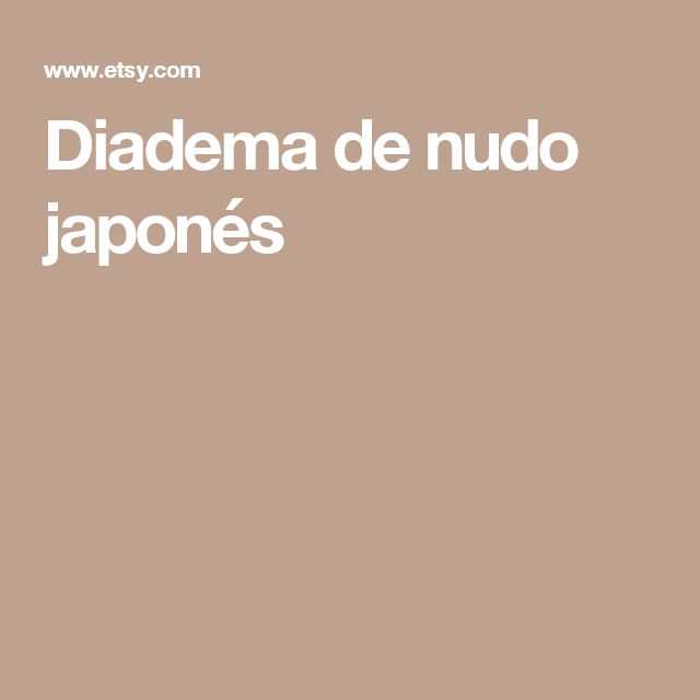 Diadema de nudo japonés