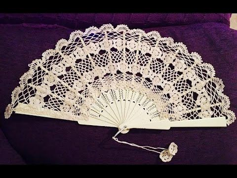 Tutorial Mi Primer Abanico crochet paso a paso (HANDMADE CROCHET FAN ) - YouTube