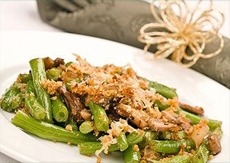 Skinny Green Bean Casserole. All the flavor for half the calories. We ...
