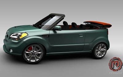 I didn't know they made a convertible, love my kia soul in alien green! kia soul convertible - Google Search