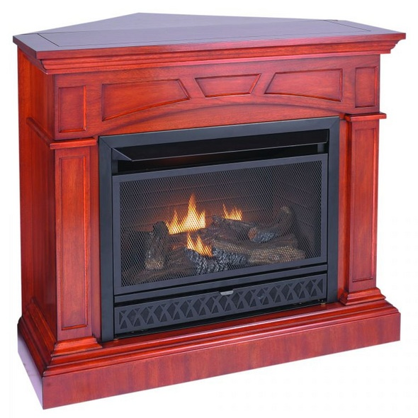 procom jefferson ventless gas fireplace dual use surround thermostat control natural gas or - Ventless Gas Fireplaces