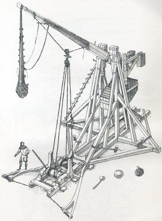 an overview of the trebuchet a medieval siege weapon The trebuchet siege weapon was an incredibly powerful weapon that could bring down castle walls, it could throw projectiles such as large rocks at medieval castle walls, or be aimed to cause havoc within a medieval castles walls.
