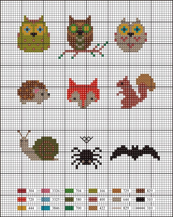 animaux-de-la-forêt-mini-grilles-de-broderie.jpg (1504×1889)