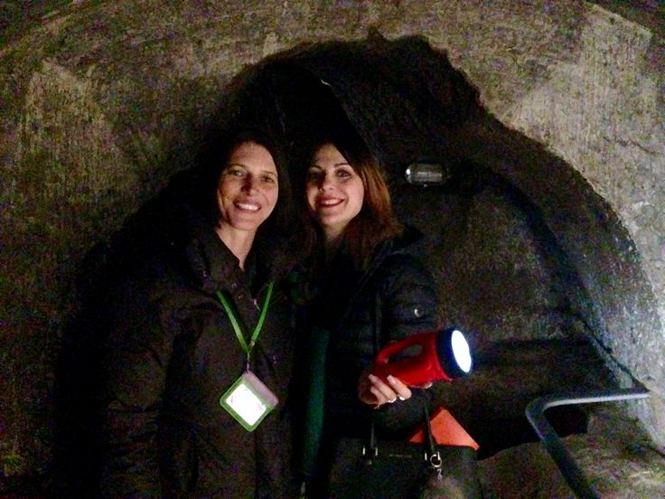 Domitilla's catacombs with my friend and colleague Romina