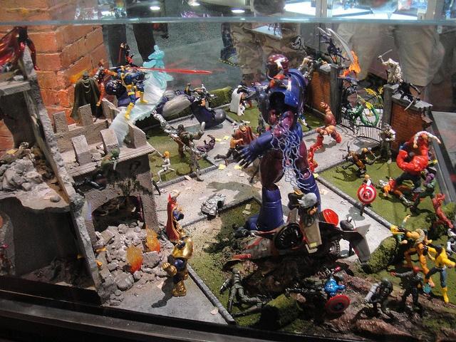 San Diego Comic Con 2011 Marvel Action Figure Diorama