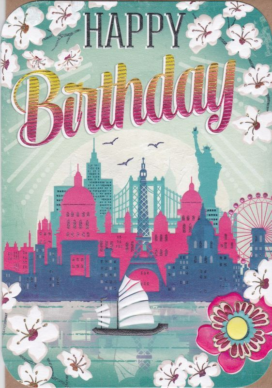 Boat & Landmarks Birthday Card - product images Karenza Paperie