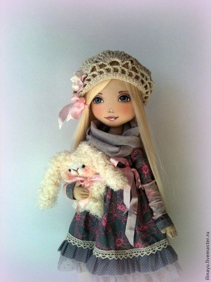 Сонечка - серый,кукла ручной работы,кукла в подарок,кукла текстильная