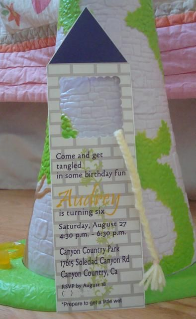 rapunzel invitation