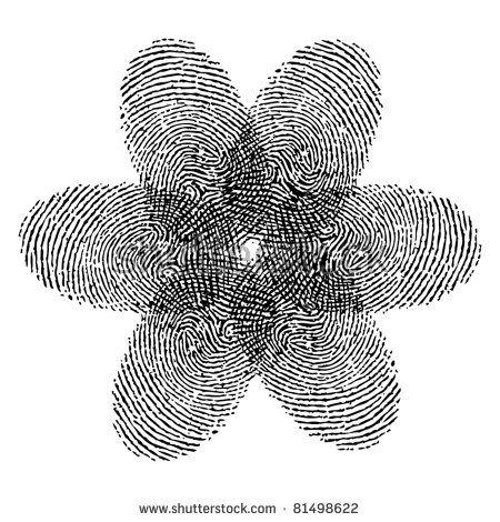 fingerprint flower vector