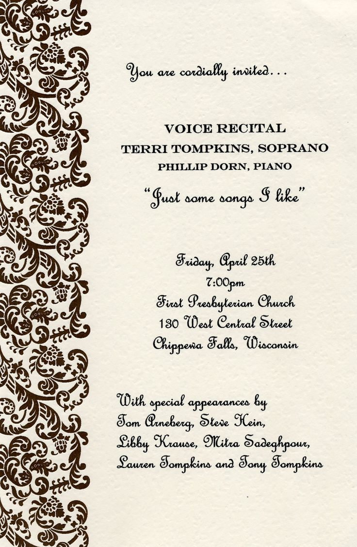 82 best Vocal recital and reception ideas images on Pinterest