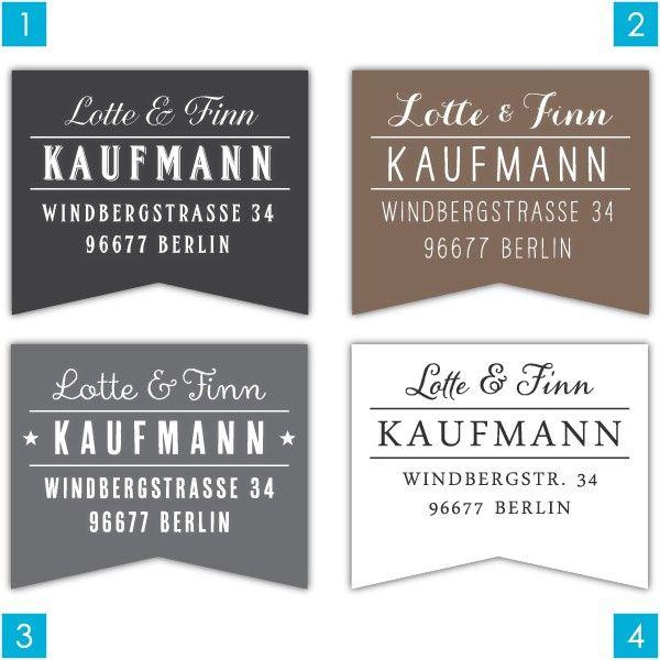 Adressaufkleber Fähnchen II | Adressaufkleber | Aufkleber | Avie-Art - PERSONALISIERTE STEMPEL