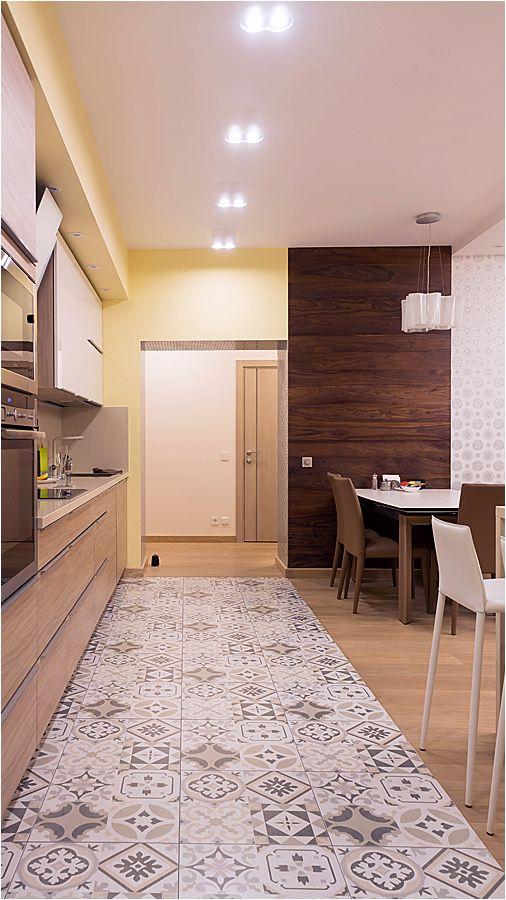Пол кухни-гостиной