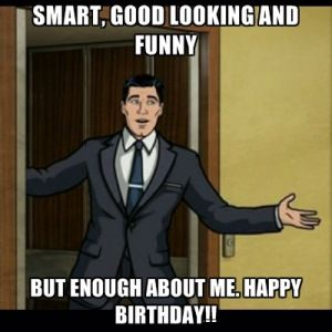 Happy Birthday Funny Meme for Guys