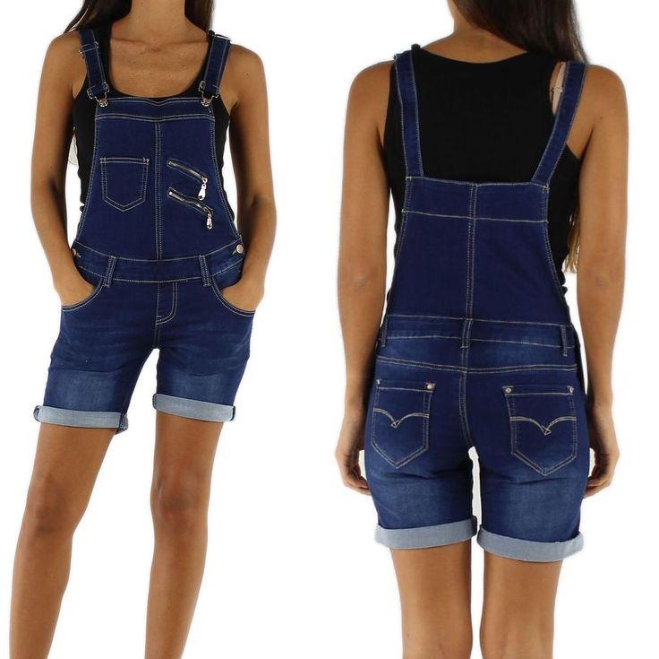 NEU Damen Latzshorts Latzhose Shorts Jeans XS S M L 34 36 38 40 42 Overall