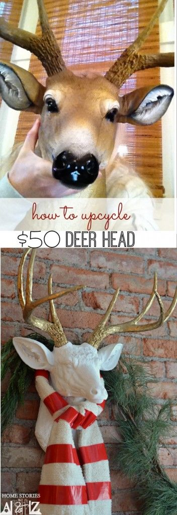 How to create your own faux white deer head for less.