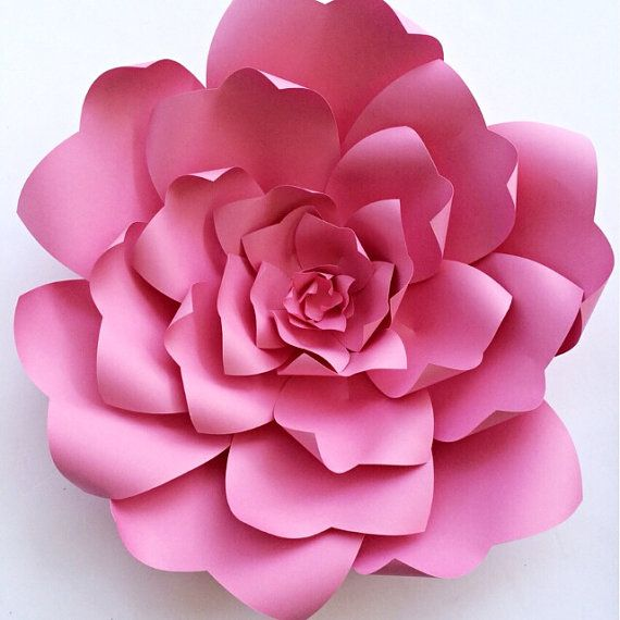 Paper flower tutorial paper flower backdrop paper flower for Big flower paper template