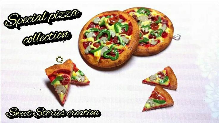 Pizza special collection - miniature food collection - polymer clay jewelry by Sweet Stories creation