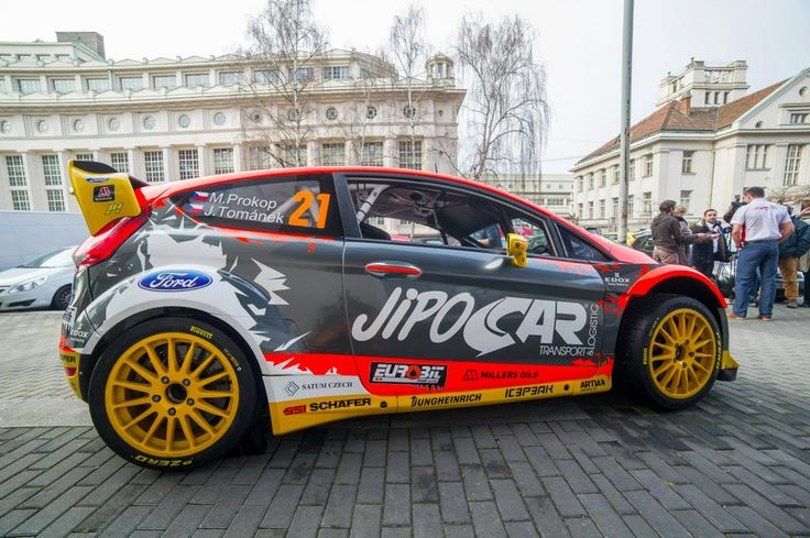 @チェコのラリードライバーProkopOfficialは彼の2014年仕様のフォードフィエスタRSにラリー·スウェーデンの準備ができている#WRC