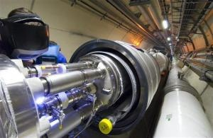 Particle Accelerator May Reveal Shape Of Alternate Dimensions at CERN LHC.. When the world's most powerful particle accelerator starts up later this year, exotic new particles may offer a glimpse of the existence and shapes of extra dimensions. String theory, which describes the fundamental particles of the universe as tiny vibrating strings of energy..