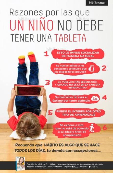 Razones por las que UN NIÑO NO DEBE TENER UNA TABLETA
