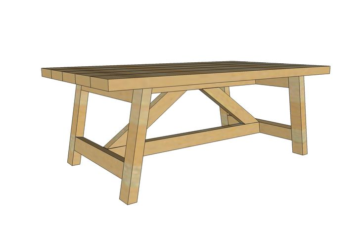 Ana white build a truss coffee table free and easy diy for Easy coffee table ideas