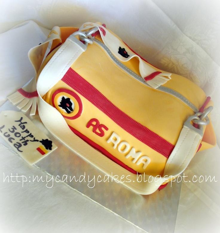 Sport bag AS Roma cake - Torta borsone calcio Roma Cakes ...