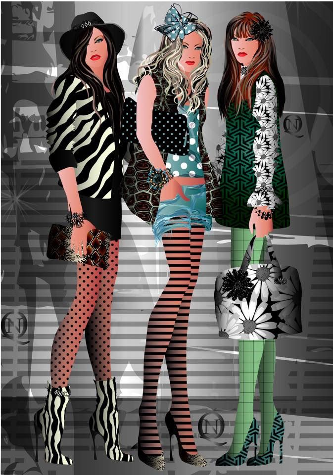 Fashion illustration by Natalia Quattromani