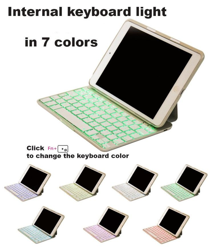 iPad Mini (1/2/3)Bluetooth Device Keyboard with Case - 7 color keyboard light (Item