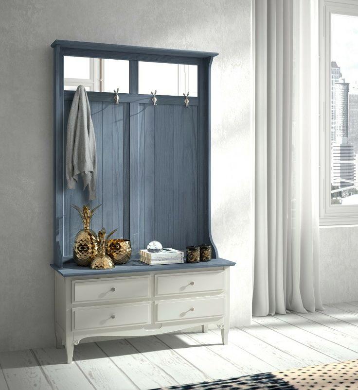 Muebles de entrada mueble de entrada y espejo mueble de for Recibidor vintage ikea