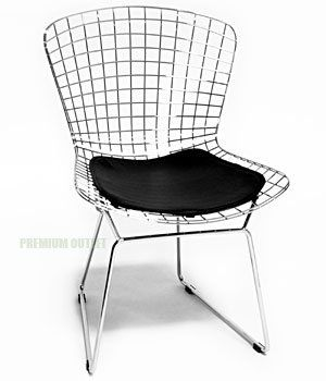Bertoia Side Chair (Black Seat Pad Included)