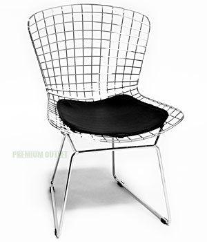 Bertoia Side Chair (Black Seat Pad Included)