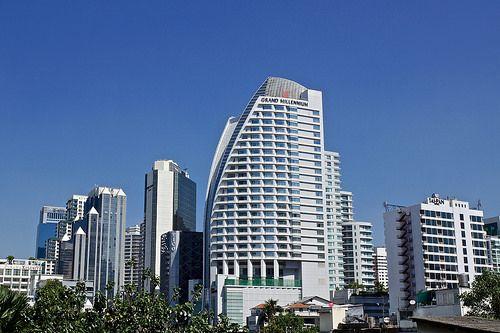 nice Grand Millenium hotel on Asoke Montri road near Sukhumvit seen from Terminal 21 shopping center in Bangkok, Thailand