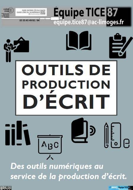 #ClasseTICE - Outils numériques pour la production d'écrit