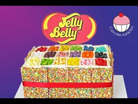 ▶ Skittles Rainbow Cake! How to make a Skittles Cake - Cupcake Addiction & Cupcakes & Cardio! - YouTube