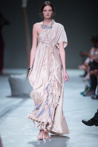 SIES!isabelle Summer 2015-16 Abbi dress in fadedpink raw silk
