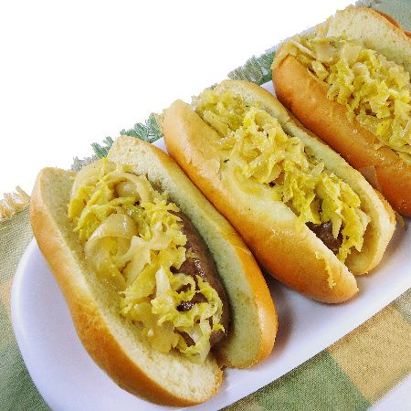 recipe: beer braised brats and cabbage [37]