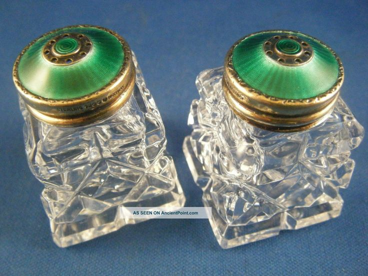 Hroar Prydz     http://ancientpoint.com/imgs/a/d/c/t/d/hroar_prydz_guilloche_enamel_sterling_silver__crystal_salt_and_pepper_shakers_1_lgw.jpg